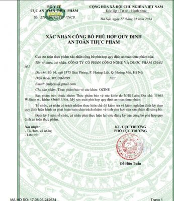 giay phep luu hanh san pham ozine glumaxx